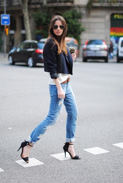 boyfriend jeans with sexy heels