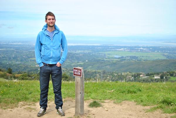 handsome hiking man