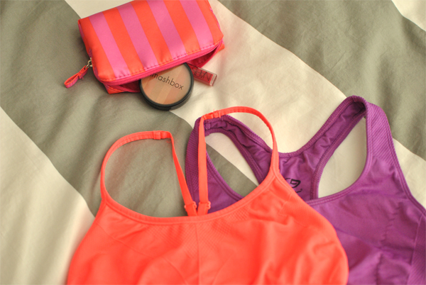neon inspiration for working out and staying organized