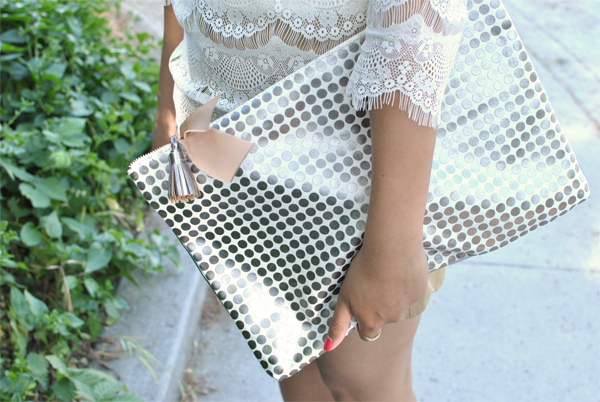 metallic and lace