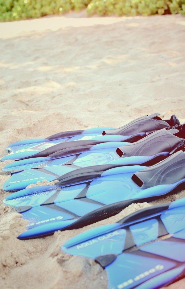 snorkel flippers