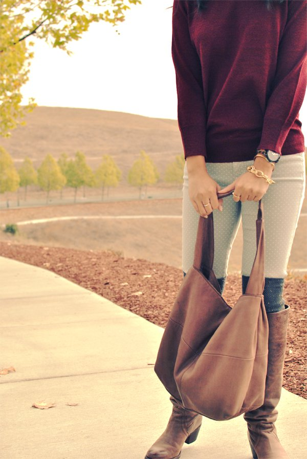 fall boots and sweaters