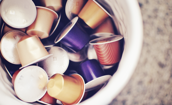 colorful nespresso capsules