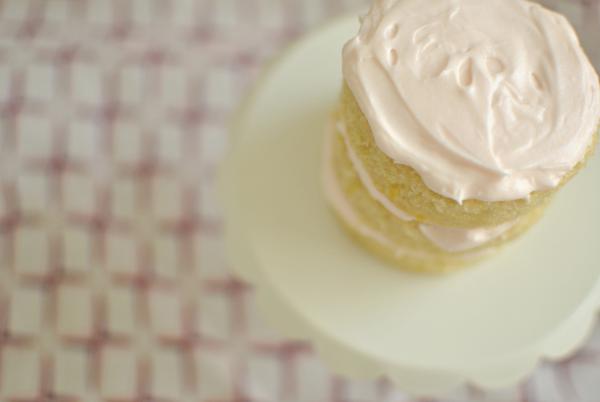 pink mini layer cake