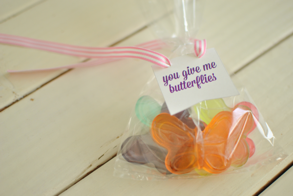 """you give me butterflies"" valentine"