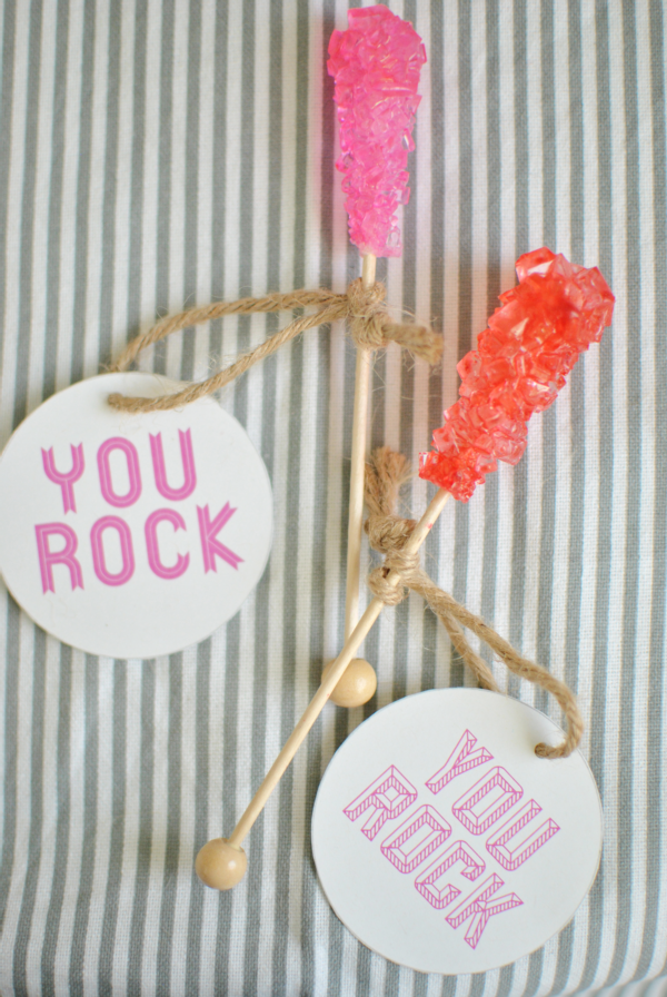 """you rock"" rock candy valentine"