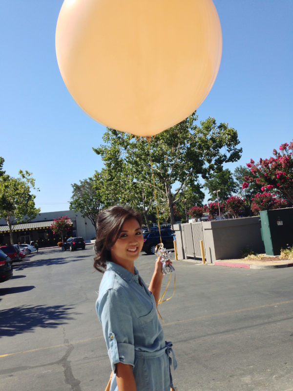 giant blush balloon