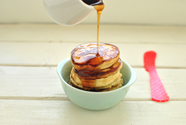 pancakes and syrup